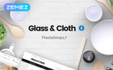 """Glass and Cloth - Dishes Store"" Responsive PrestaShop Thema"