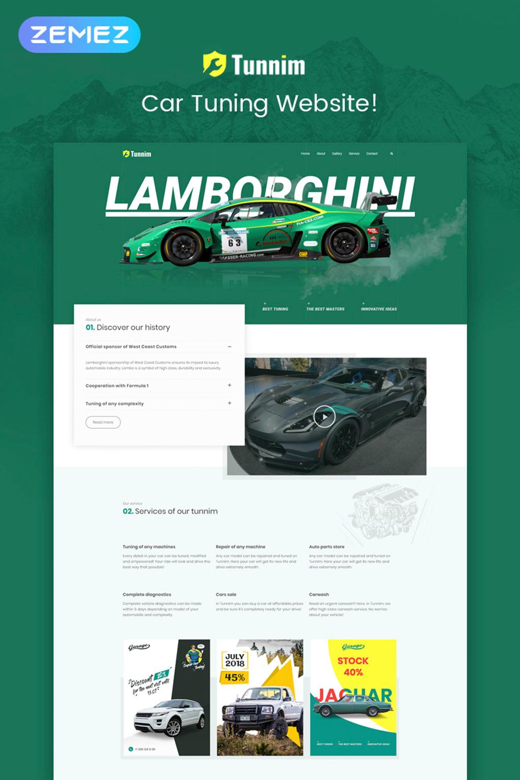 Tunnim - Car Tuning Elementor WordPress Theme
