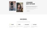 Tattoo - Beauty Salon HTML5 Templates de Landing Page  №73270