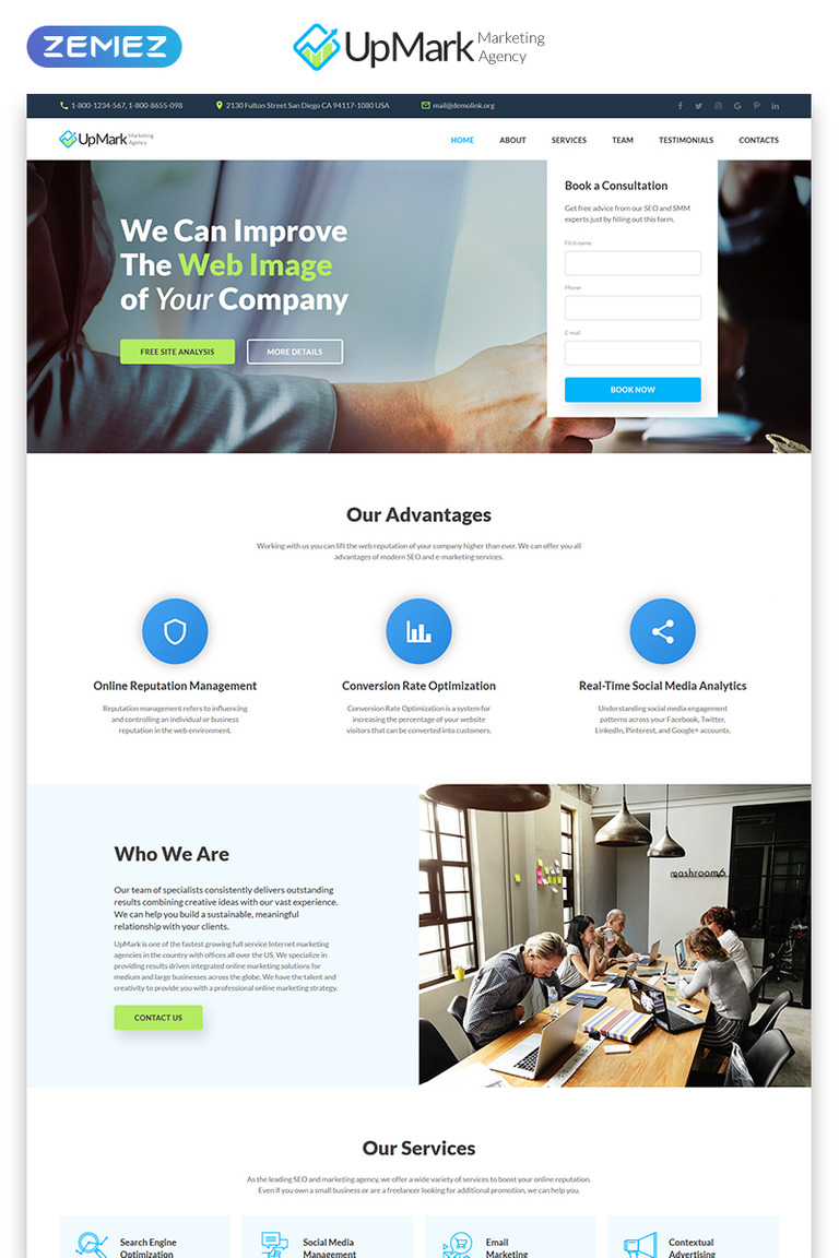 jquery landing page templates.html