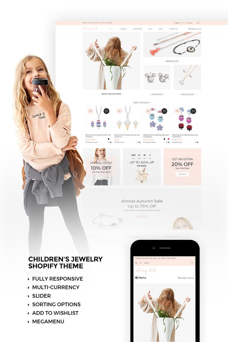 Shiny Kid - Children's Jewelry Shopify Theme
