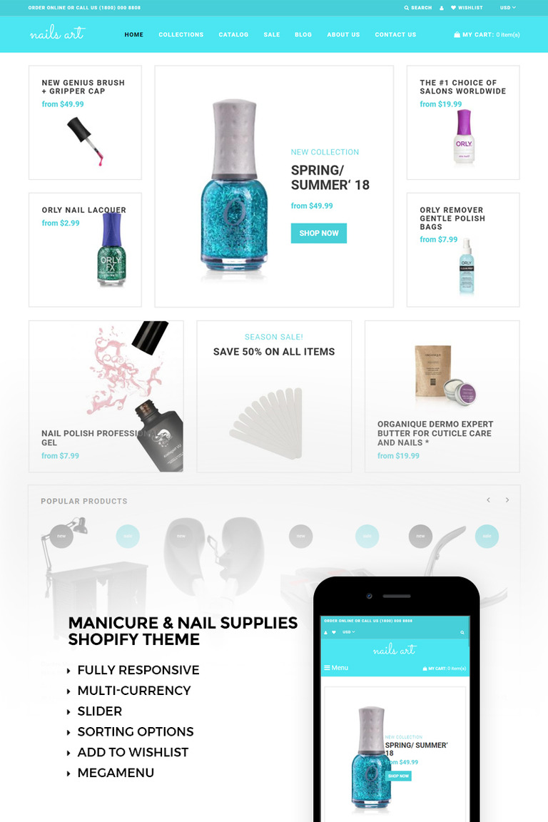 Nails Art Simple Nails Beauty Online Store Shopify Theme 73424
