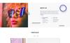 Plantilla Web para Sitio de Desarrollo web Captura de Pantalla Grande
