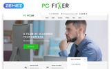 """PC Fixer - Computer Repair Services HTML"" 响应式着陆页模板"