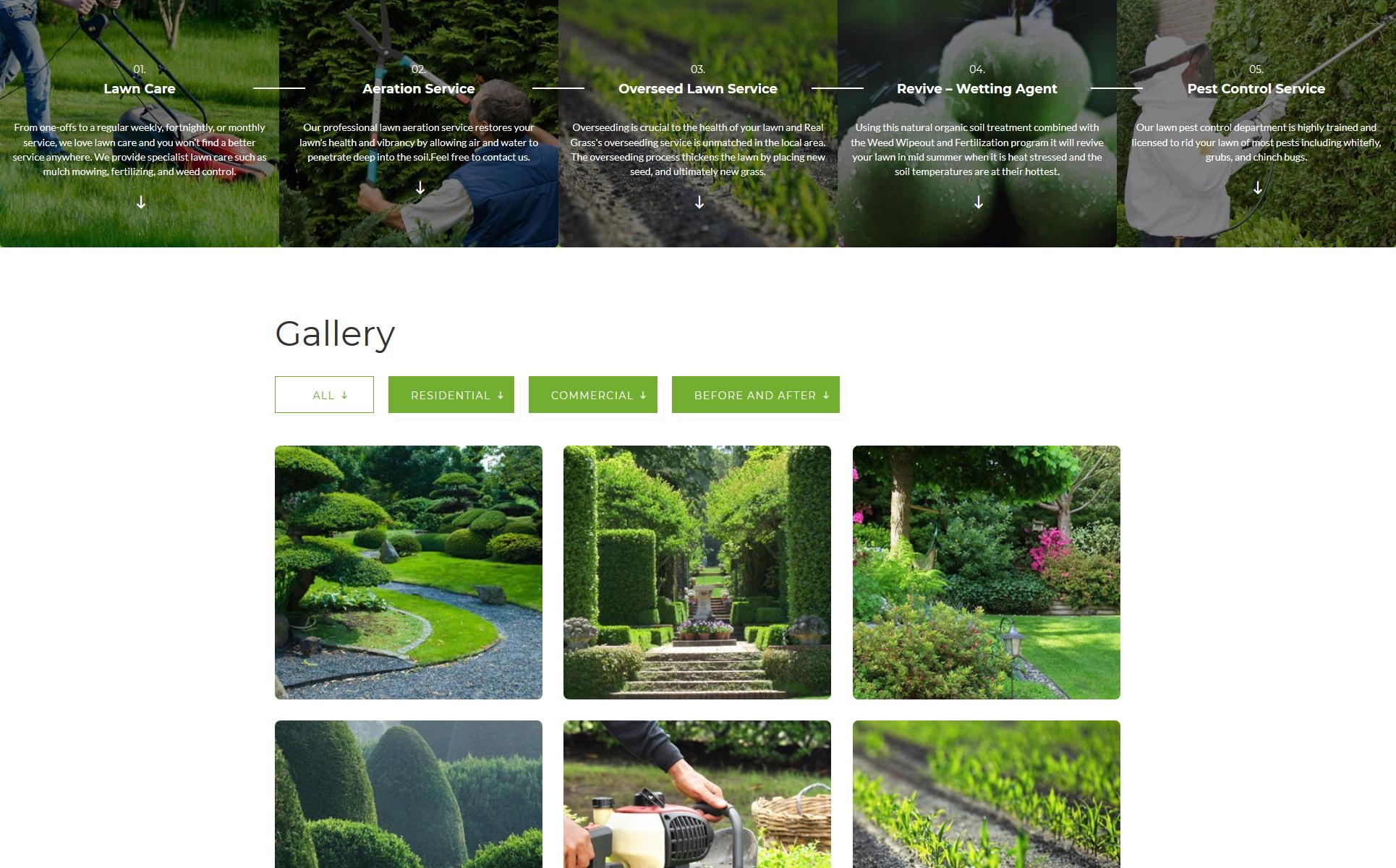 Garden Maintenance Landing Page Html Template