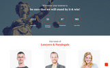Justeco - Fancy Law Firm HTML Templates de Landing Page  №73451