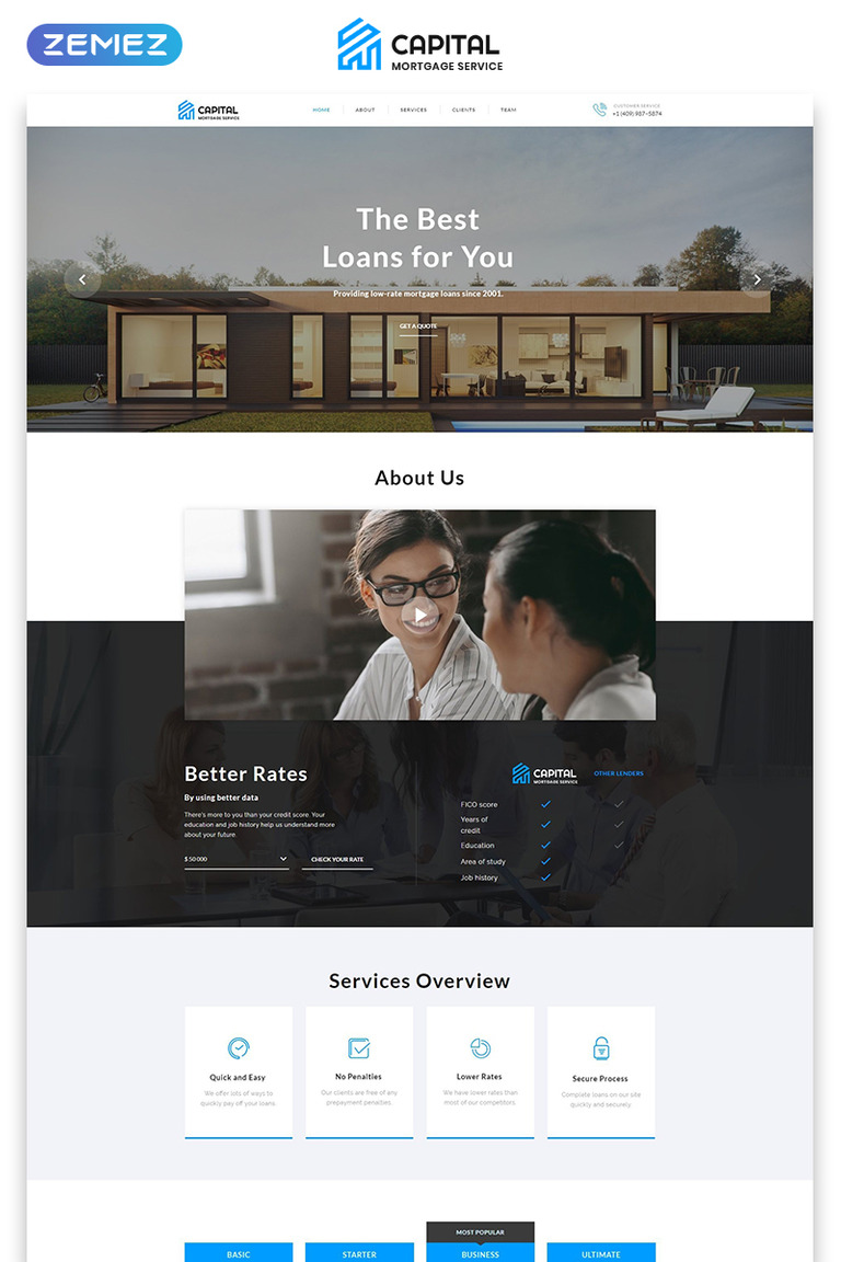 Mortgage Landing Page Html Template