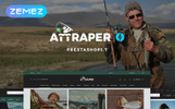 "PrestaShop шаблон ""Attraper - Fishing Store"""