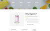 "Website Vorlage namens ""Organic Farm Multipurpose HTML"" Großer Screenshot"