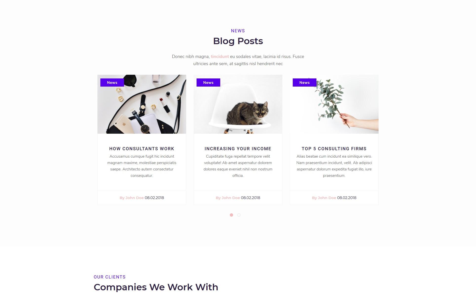Plantilla para sitios web - Categoría: Negocios - versión para Desktop