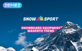 """SnowSport - Extreme Sports Gear"" Magento模板"