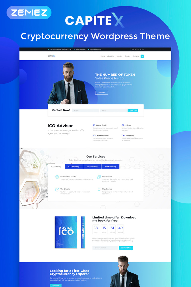 Capitex - ICO Marketing Elementor WordPress Theme