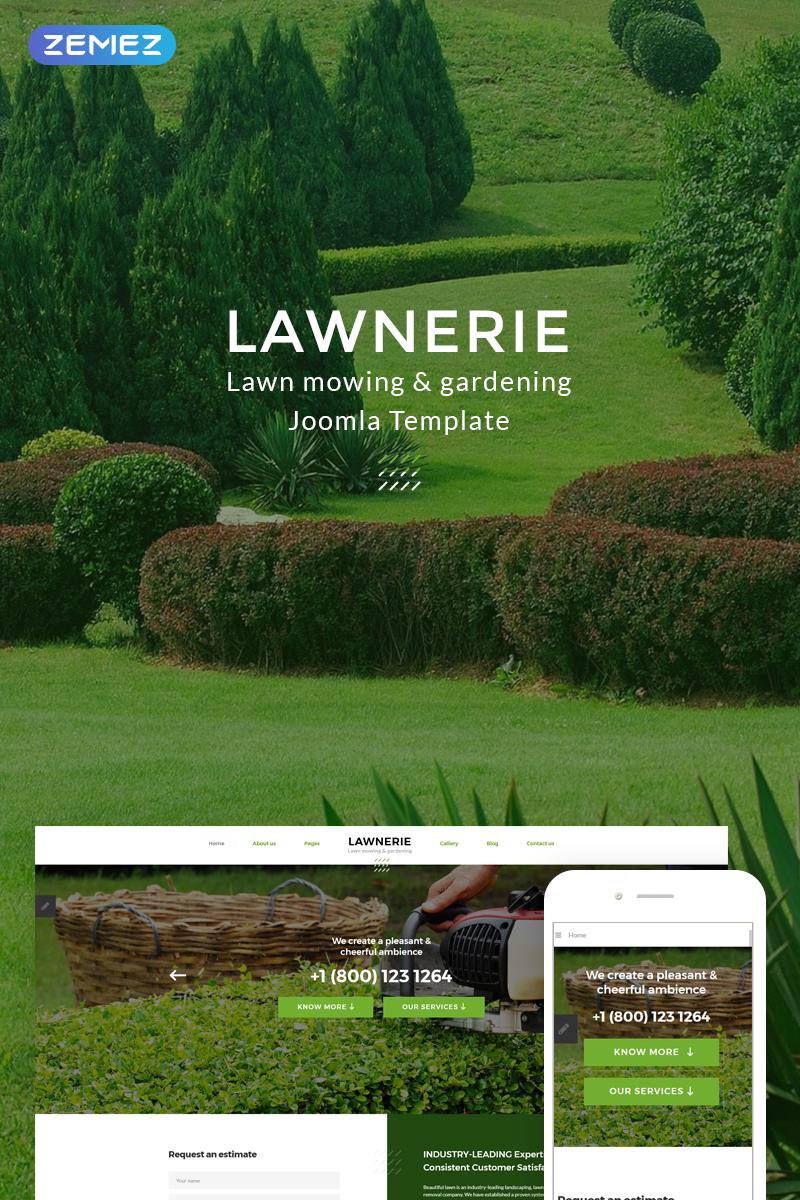 lawnerie landscape design joomla template 74378
