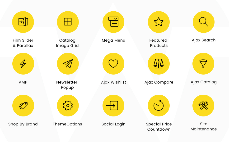 Plantilla para magento - Categoría: Bodas y eventos - versión para Desktop