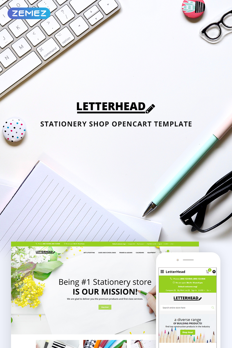 letterhead stationery opencart template 74626