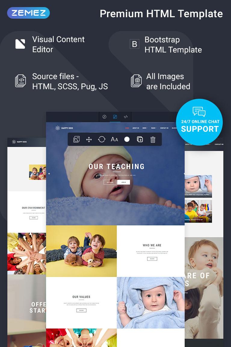 Hy Kids Nursery Ready To Use Website Template Screenshot