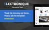 "PrestaShop Theme namens ""Electronique - Electronics Store"" Großer Screenshot"