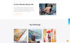 Modern - Portfolio Ready-To-Use Website Template Big Screenshot