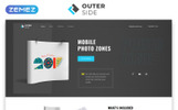 """Landing Page Template namens """"Outer Side - Photo Zones One Page Modern HTML"""""""