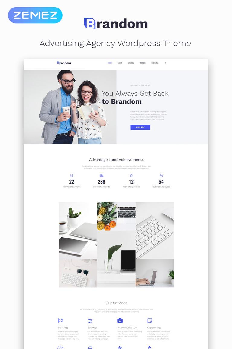 Brandom - Advertising Agency Multipurpose Minimal Elementor WordPress Theme