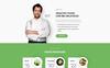 """Responzivní Šablona mikrostránek """"Plate - Healthy Food One Page Clean HTML"""" Velký screenshot"""