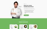 Plantilla para Página de Aterrizaje para Sitio de Restaurantes vegetarianos