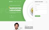 """Responzivní Šablona mikrostránek """"Plate - Healthy Food One Page Clean HTML"""""""