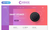 """Landing Page Template namens """"Voice - Smart Speaker One Page Creative HTML"""""""