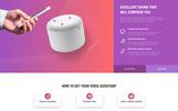 """Responzivní Šablona mikrostránek """"Voice - Smart Speaker One Page Creative HTML"""""""