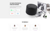 """Landing Page Template namens """"Voice - Smart Speaker One Page Creative HTML"""" Großer Screenshot"""