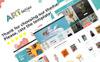 "PrestaShop Theme namens ""ARTboutique - Art Gallery Modern Bootstrap Ecommerce"" Großer Screenshot"