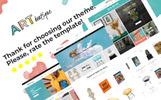 "PrestaShop Theme namens ""ARTboutique - Art Gallery Modern Bootstrap Ecommerce"""