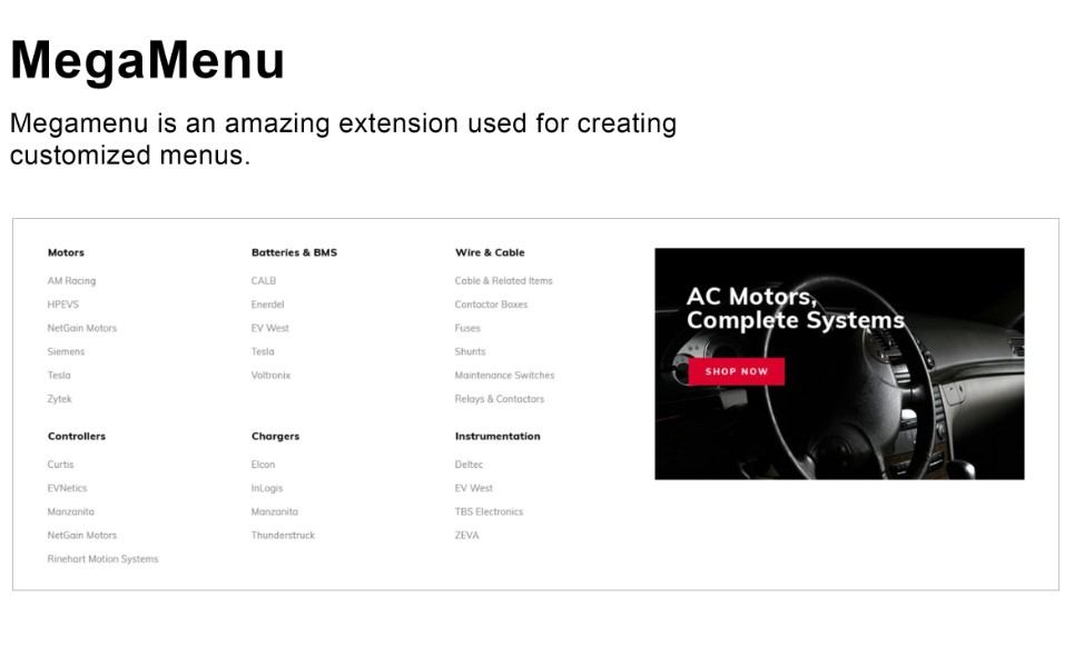 Plantilla para magento - Categoría: Electrónica - versión para Desktop