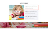 """Preschool - Education Multipage Clean HTML"" Responsive Website template"