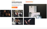 """Power - CrossFit Studio One Page Creative HTML5"" modèle  de page d'atterrissage adaptatif"