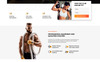 """Power - CrossFit Studio One Page Creative HTML5"" modèle  de page d'atterrissage adaptatif Grande capture d'écran"