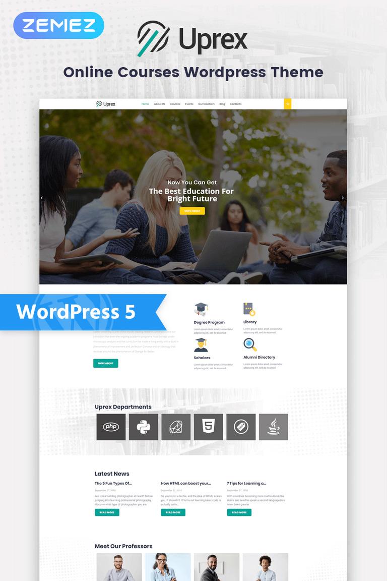 Uprex - Education Multipurpose Modern Elementor WordPress Theme