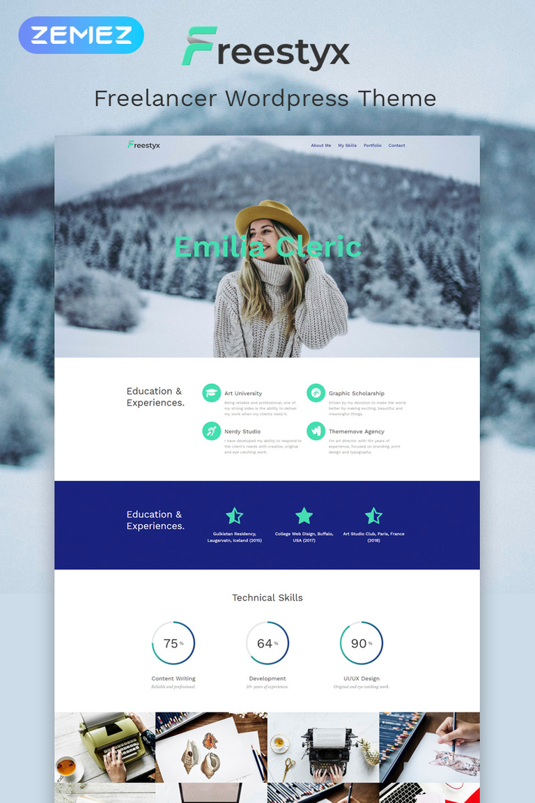 Freestyx - Freelancer One Page Modern Elementor WordPress Theme