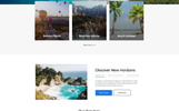 Go Agency - Travel Agency Clean Bootstrap HTML Templates de Landing Page  №77144