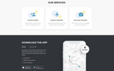 "Template di Landing Page Responsive #77212 ""Taxpro - Taxi Minimal Bootstrap HTML"""