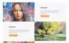 E.morton - багатосторінковий HTML5 Ru шаблон портфоліо художника Великий скріншот