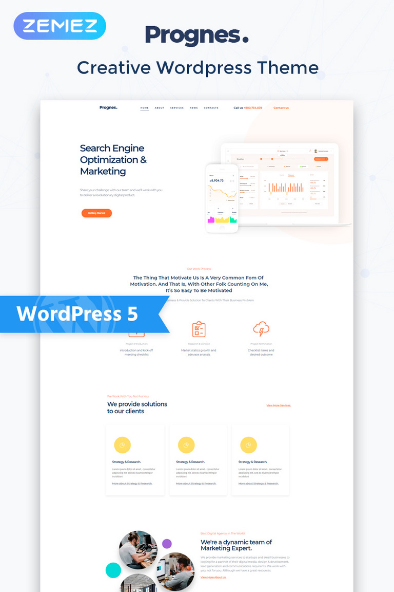 Prognes - Consulting Multipurpose Clean Elementor WordPress Theme
