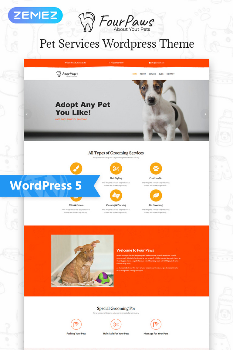 Image result for four paws wordpress