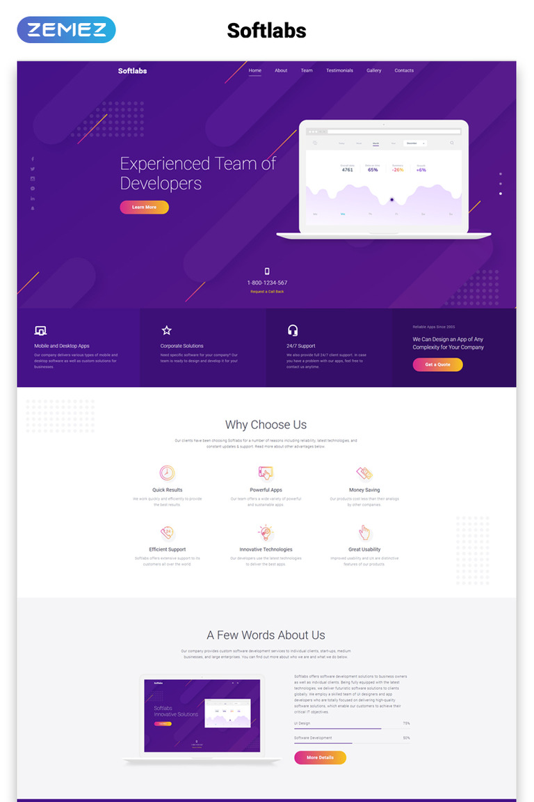 Softlabs Landing Page Html Template