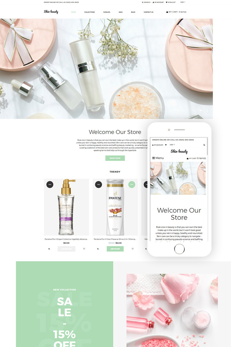 1f171f3fbb45b Skin beauty - Cosmetics Store Clean Shopify Theme