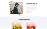 """Jasmine Mills - Art Ready-to-Use Creative HTML"" Responsive Website template"