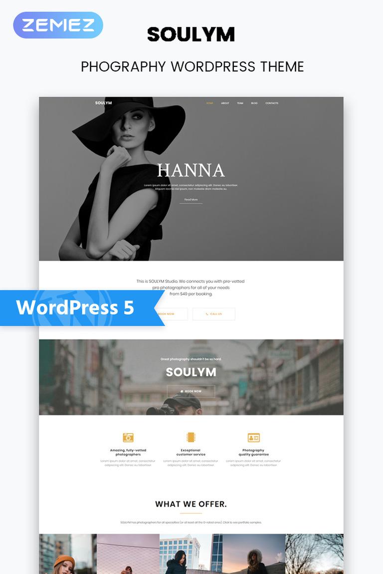 Soulym - Photography Multipurpose Modern Elementor WordPress Theme