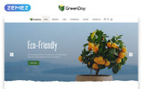 "Landing Page Template namens ""Green Day - Food Store Clean HTML Bootstrap"""