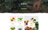 """Green Day - Food Store Clean HTML Bootstrap"" 响应式着陆页模板 大的屏幕截图"