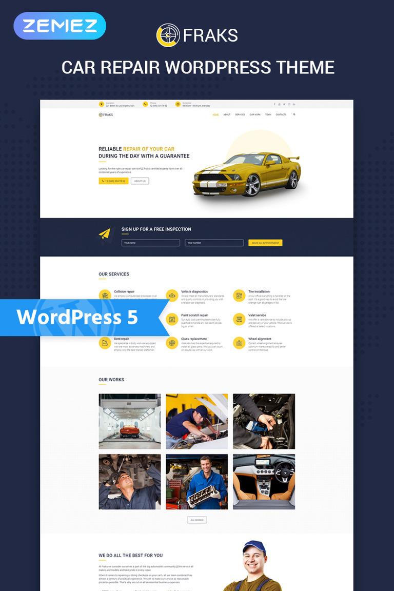 Fraks - Car Repair Multipurpose Classic Elementor WordPress Theme